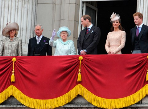The Royal Family at the Queen's Diamond Jubilee Celebrations