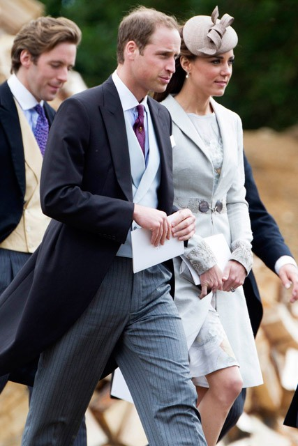Kate Middleton &amp; Prince William attend the wedding of Emily McCorquodale &amp; James Hutt