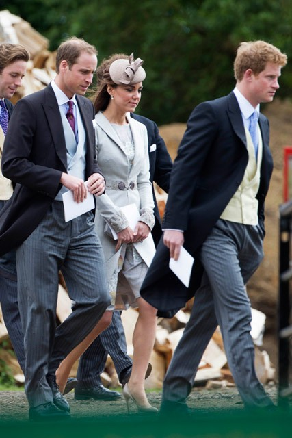 Kate Middleton & Prince William attend the wedding of Emily McCorquodale & James Hutt