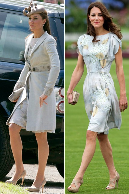 Kate Middleton recycles Jenny Packham dress