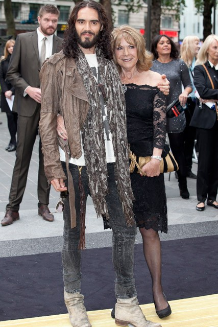 Russell Brand and his mum - Rock of Ages premiere in London - Marie Claire - Marie Claire UK