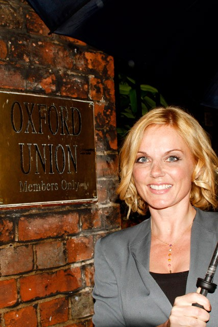 Geri Halliwell gives speech at Oxford Union