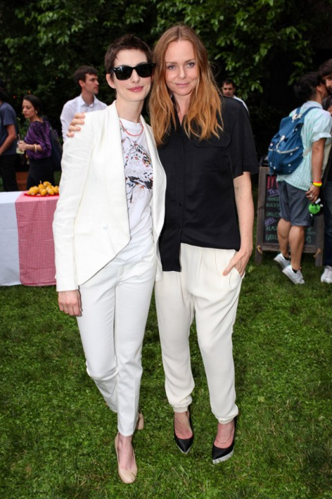 Anne Hathaway and Stella McCartney at the Stella McCartney pre-spring/summer 2013 collection launch party in New York