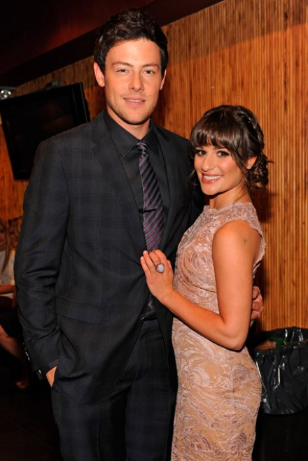 Lea Michele and Cory Monteith's night out