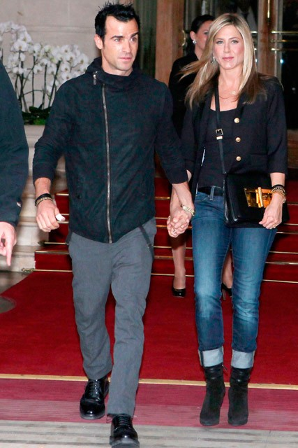 Jennifer Aniston and Justin Theroux - Jennifer Aniston and Justin Theroux in Paris - Marie Claire - Marie Claire UK