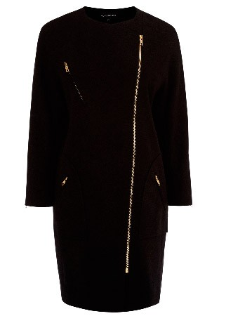Warehouse collarless biker coat, £95