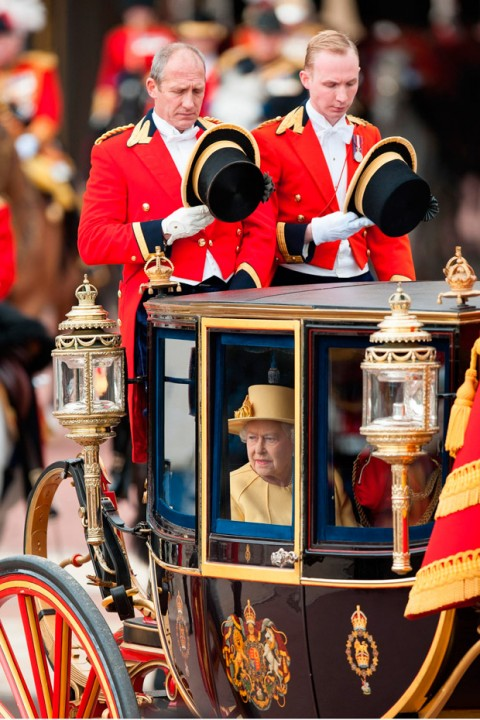Queen Elizabeth attend Trooping the Colour