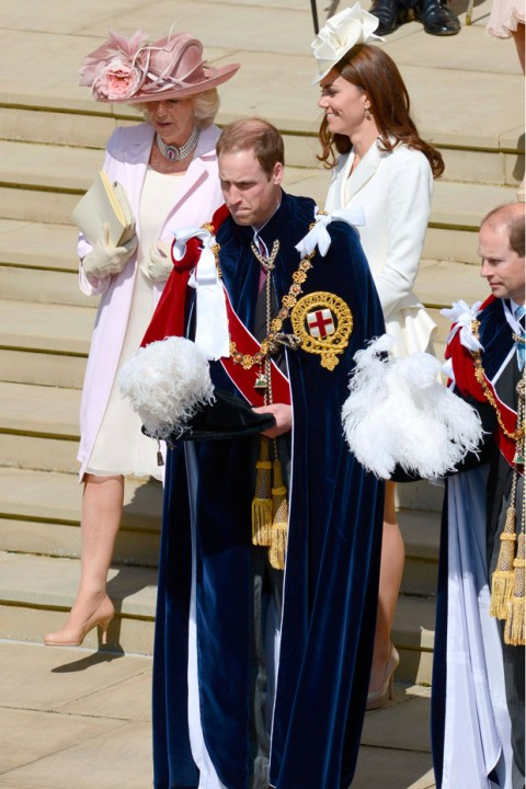 The Duke and Duchess of Cambridge at the Order of the Garter Service 2012
