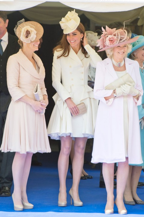 The Countess of Wessex, Duchess of Cambridge & Duchess of Cornwall at the Order of the Garter Service 2012