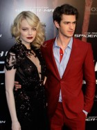 Emma Stone and Andrew Garfield at the Paris premiere of The Amazing Spider-Man