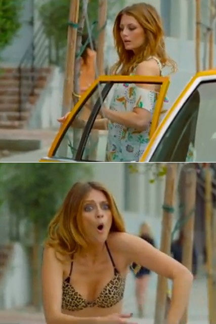 Mischa Barton strips down for Noel Gallagher music video