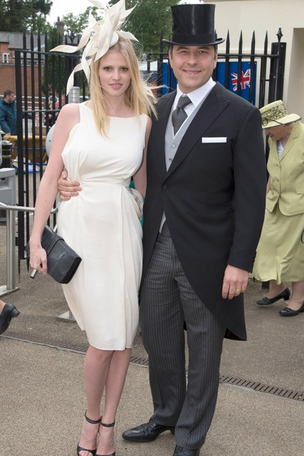 Lara Stone and David Walliams at Royal Ascot 2012