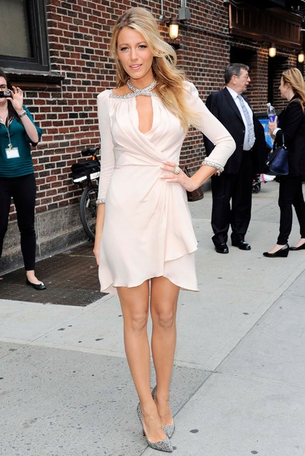 Blake Lively arriving at The Late Show with David Letterman in New York