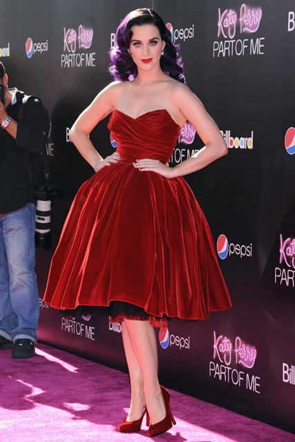 Katy Perry at the Katy Perry: Part of Me concert film premiere in Los Angeles