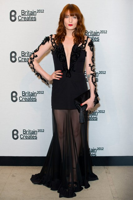 Florence Welch at Britain Creates 2012: Fashion & Art Collusion VIP gala in London