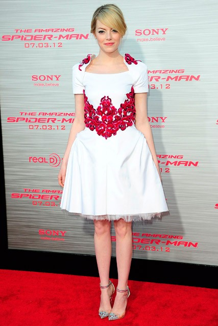 Emma Stone at the Los Angeles premiere of The Amazing Spider-Man