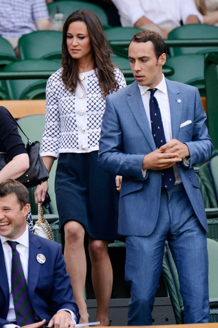 Pippa and James Middleton at Wimbledon 2012