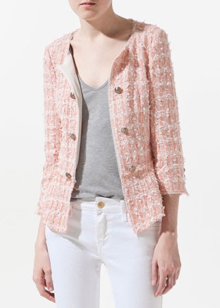 Zara tweed blazer, Was £89.99, Now £69.99
