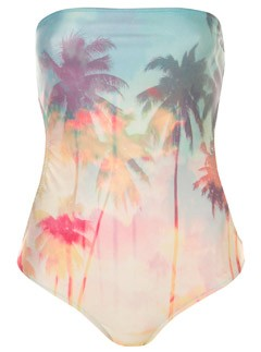 Topshop palm print swimsuit
