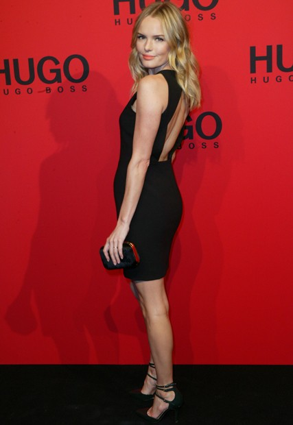 Kate Bosworth goes backless at Hugo Boss show at Berlin Fashion Week
