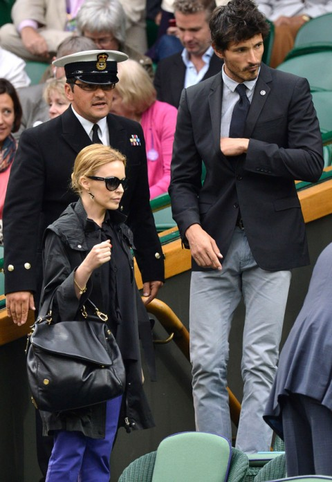 Kylie Minogue and boyfriend Andres Velencoso - Wimbledon 2012 - Marie Claire - Marie Claire UK
