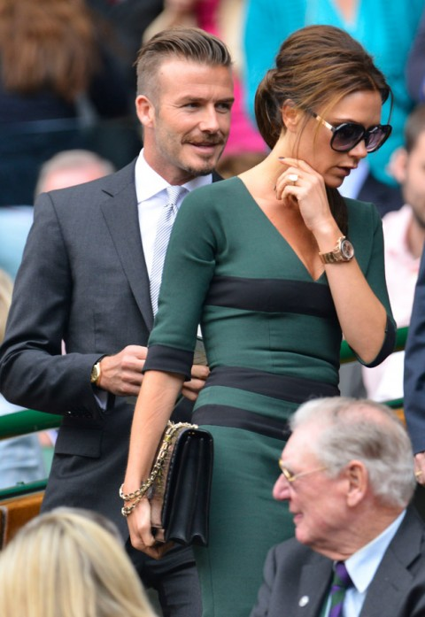 David and Victoria Beckham - Wimbledon 2012 - Marie Claire - Marie Claire UK