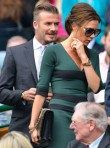 Victoria Beckham wearing a Victoria Beckham autumn/winter 2012 dress to Wimbledon 2012