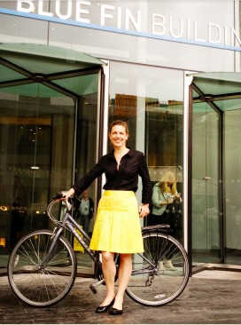 Miranda and her bike portrait