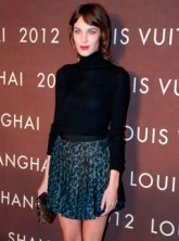Alexa Chung at the Louis Vuitton store launch party in Shanghai, China