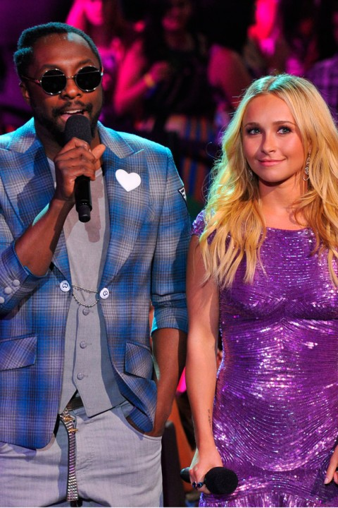 Will.i.am and Hayden Panettiere at the Teen Choice Awards 2012