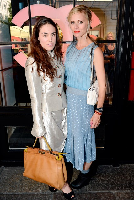 Tallulah Harlech and Laura Bailey at Chanel's pop-up beauty shop launch in Covent Garden, London