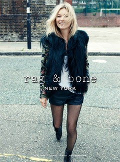 Kate Moss for Rag & Bone autumn/winter 2012