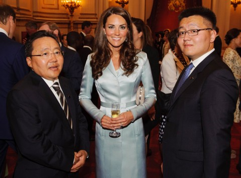 Kate Middleton, the President of Mongolia and Erdene Elbegdor