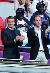 olympics 2012, london 2012, david beckham, prince william, brooklyn beckham, celebrity pictures, team gb, football match, marie claire, marie claire uk