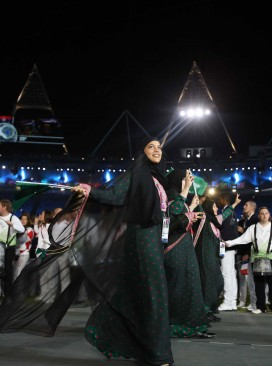 Saudi Arabia female athletes opening ceremony