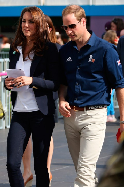 Kate Middleton and Prince William cheer on Zara Phillips at the Olympics