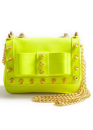Aila studded gold chain handbag, £240