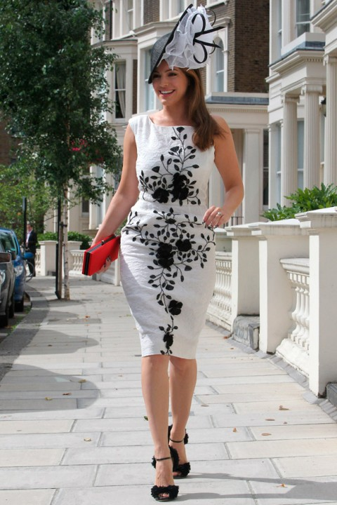 Kelly Brook attends Ladies Day at Glorious Goodwood Races 2012