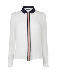 Jaeger Grosgrain Placket Blouse