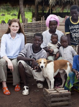 Bonnie Wright Senegal travel