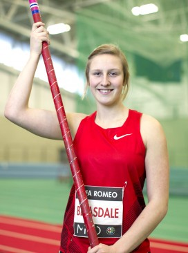 Pole vaulter Holly Bleasdale