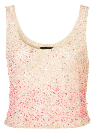 Topshop sequined vest, &pound;25