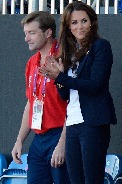 Kate Middleton cheers on Team GB at the Olympics