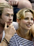 Chris Hemsworth and Elsa Pataky at the London 2012 Olympics