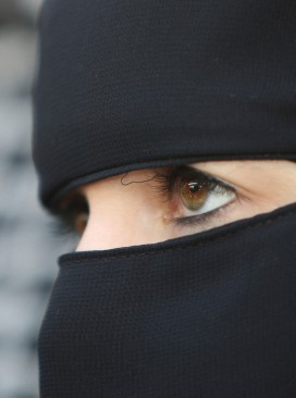 Woman wearing Islamic veil