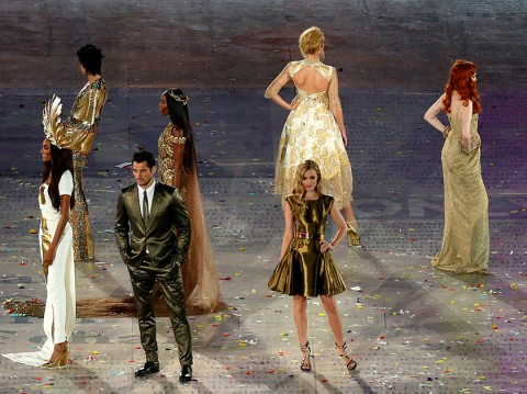 Supermodels at the Olympic Closing Ceremony