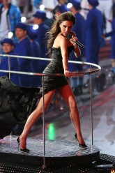 Victoria Beckham at the Olympic closing ceremony