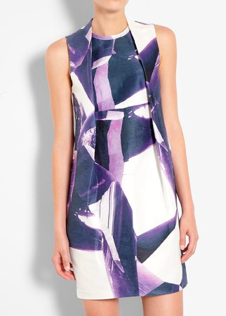 Carven geometric print silk dress, £470