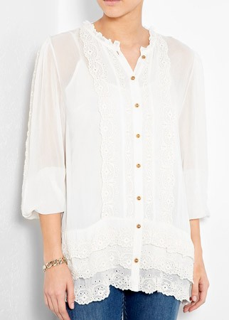 Alice by Temperley lace trim blouse, £295