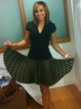 Jessica Ennis wearing Victoria Beckham dress